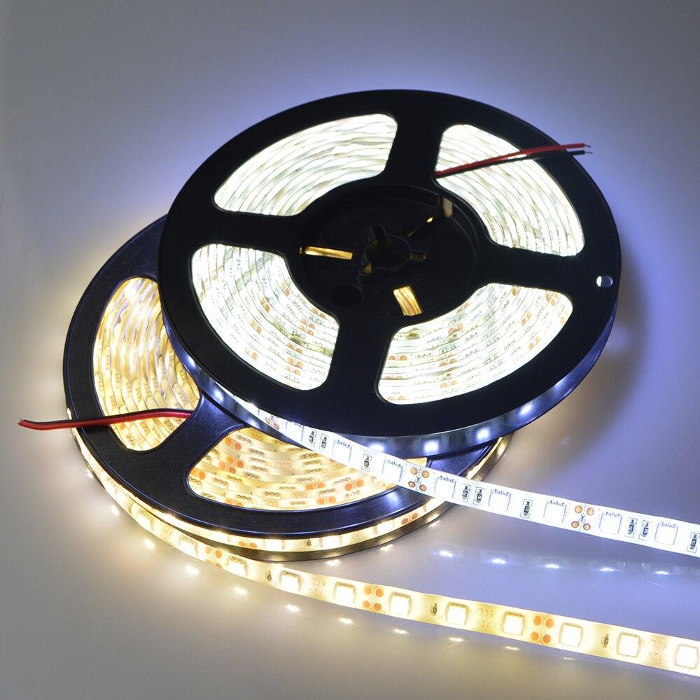 5M 300LEDs 12V Kitchen Lights Waterproof RGB LED Light Brightness LED Ribbon Tape Under Cabinet Cupboard Decoration Lights