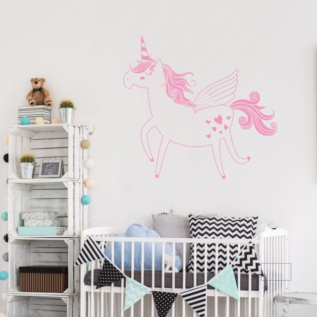 Unicorn Wall Sticker Nursery Art Decor Removable Unicorn Vinyl Wall Decal  Sticker For Baby Kids Rooms