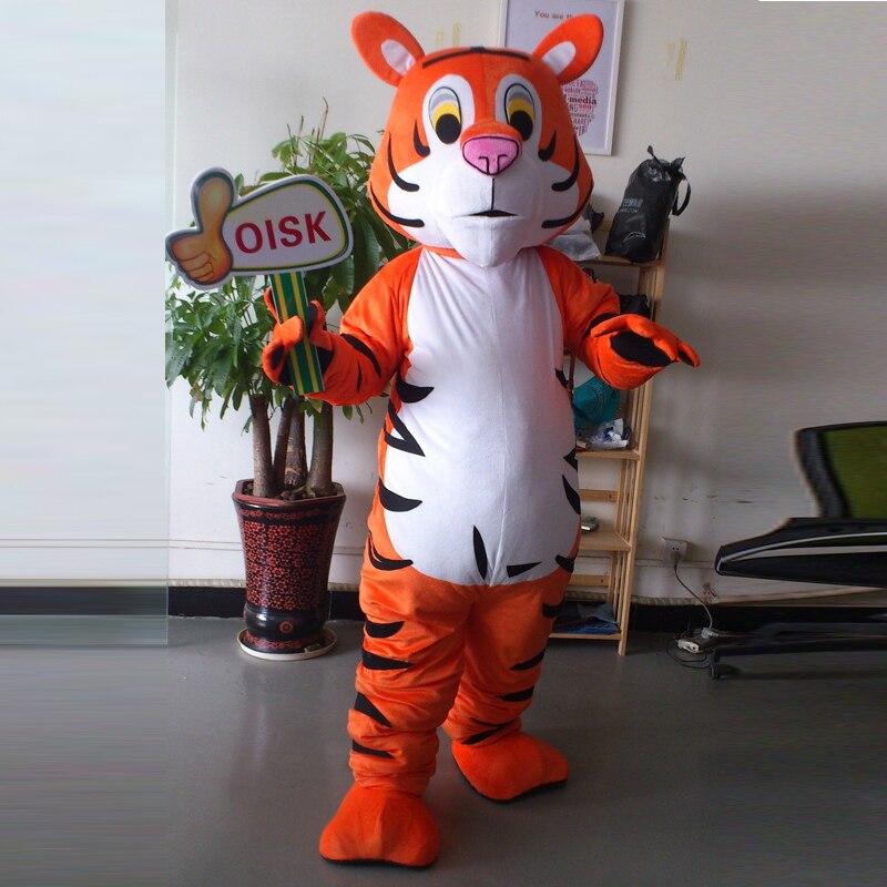 Ohlees настоящая фотография бенгл талисман Тигра костюм взрослый размер наряд плюшевая кукла нарядное платье