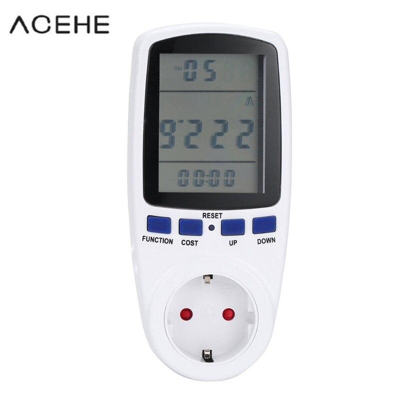 Digitale wattmeter elektrische power watt meter energie spannung eu-stecker elektronische monitor AC Meter 220 v strom verbrauch