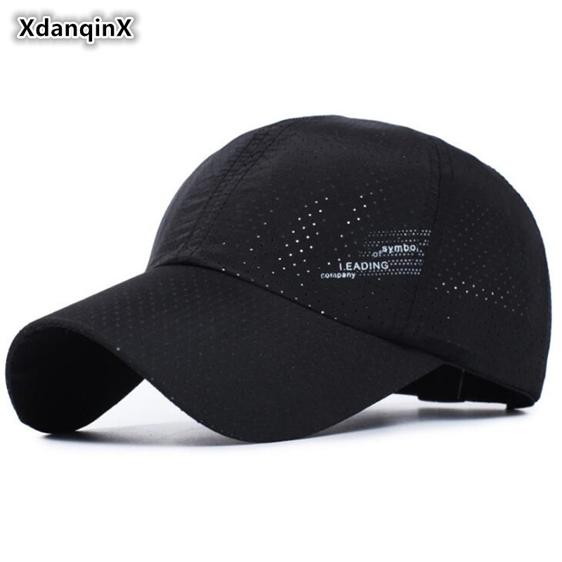 XdanqinX Unisex Summer Ultra-thin Breathable Baseball Cap Simple Adjustable Head Size Ventilated Visor Caps For Men And Women