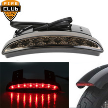 High Quality Motorcycle Smoke Chopped Fender Edge LED Stop Tail Brake Light for Harley Iron 883 XL883N XL1200N(China)