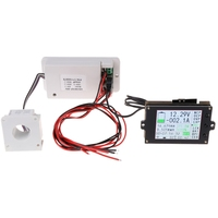 Wireless Multifunction Voltmeter Ampere Meter DC 0 80V 0 300A with Hall Sensor Wireless Data Transmission Hall Sensor color LCD