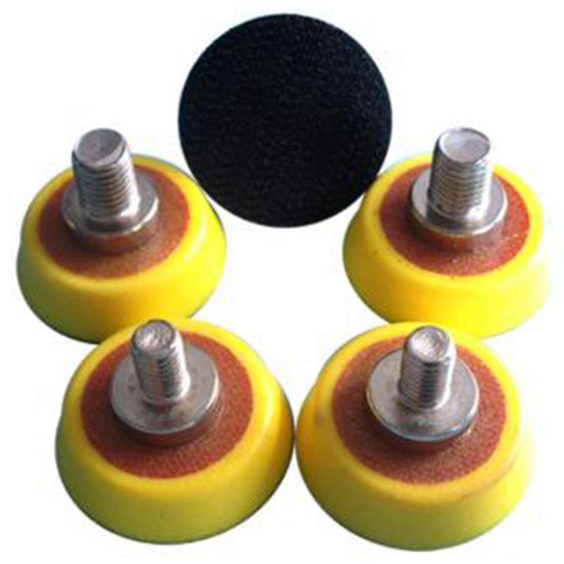 5 Pcs 1.2 Inch Sanding Disc Backing Pad Sanding Backup Pad Abrasive Tools  M6 & 5/16inch-24 Thread For Polishing & Grinding