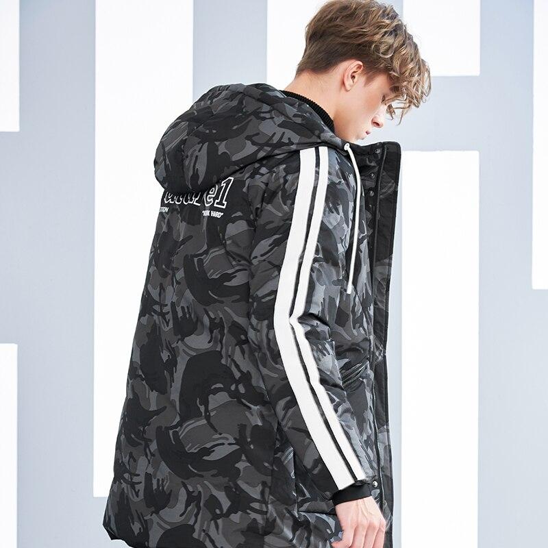 Pioneer Camp camouflage doudoune hommes marque-vêtements mode chaud épais duvet de canard manteau mâle qualité rouge noir AYR801430