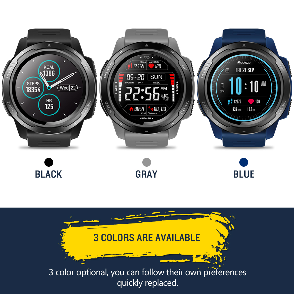 Zeblaze VIBE 5 IP67 étanche fréquence cardiaque longue durée de vie de la batterie écran d'affichage couleur multi-sports Modes Fitness Tracker montre intelligente - 6