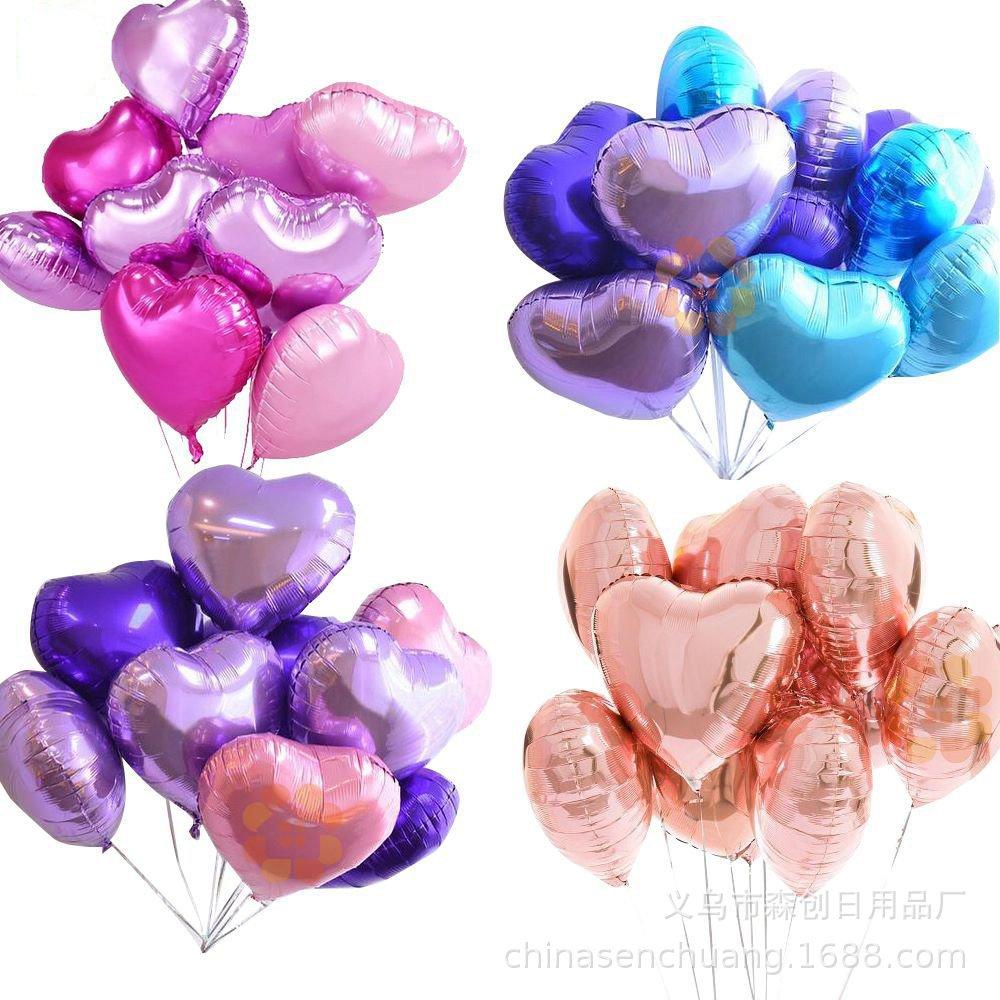 "18/"" Hearts Star Foil Balloon Valentines Shower Wedding Shower Birthday Party lot"