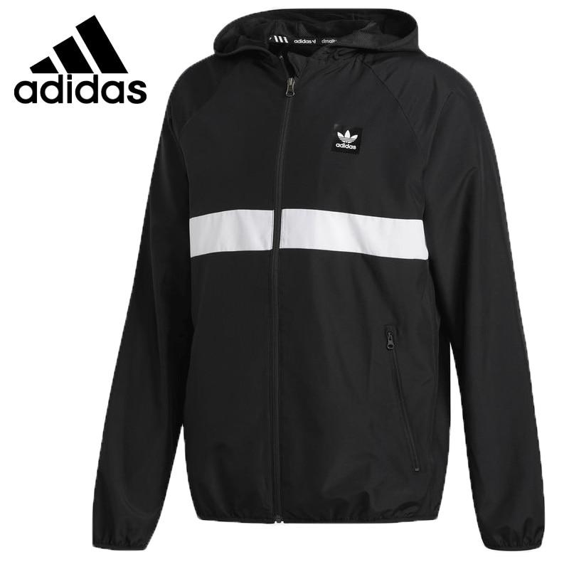 US $89.7 31% OFF|Original New Arrival 2018 Adidas Originals BB WIND JACKET Men's jacket Hooded Sportswear in Running Jackets from Sports &