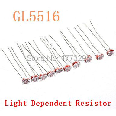 200Pcs/Lot GL5516 5516 Light Dependent Resistor LDR 5MM ...