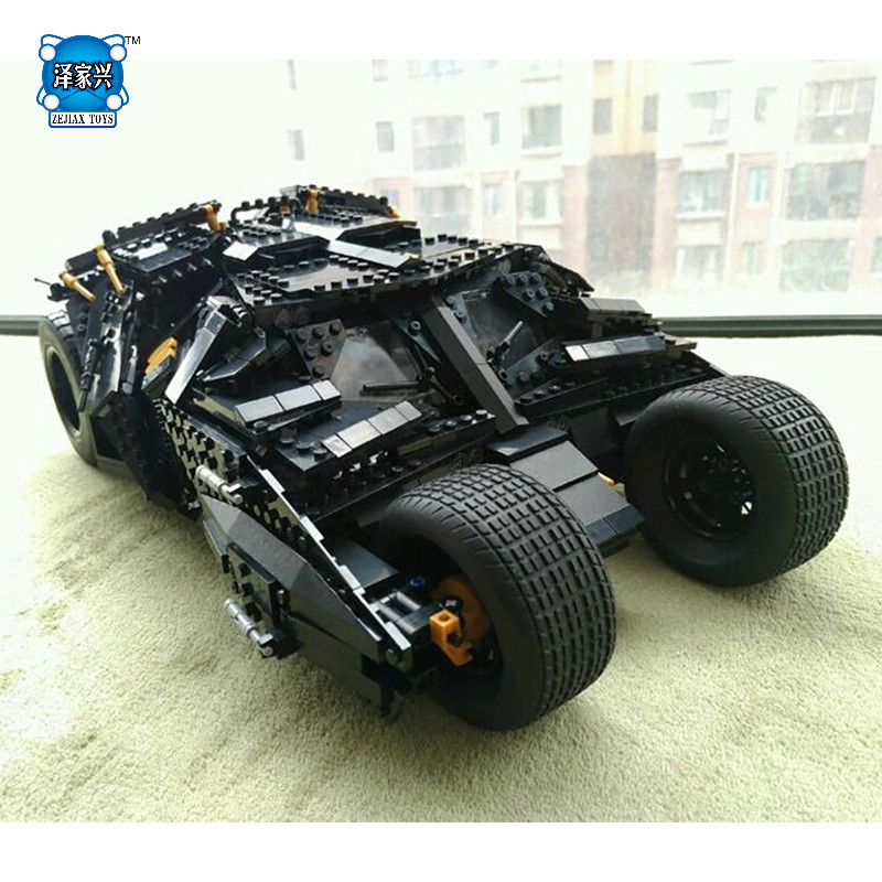 Super Heroes Batman The Tumbler DIY  Building Bricks Blocks Gift Figures Toys for Children Compatible Lepins 3D Model decool 7118 batman chariot super heroes of justice building block 518pcs diy educational toys for children compatible legoe