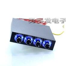 STW-6002 4 канала Скорость вентилятор контроллер с голубой светодиодный gdt-контроллер и Процессор HDD VGA