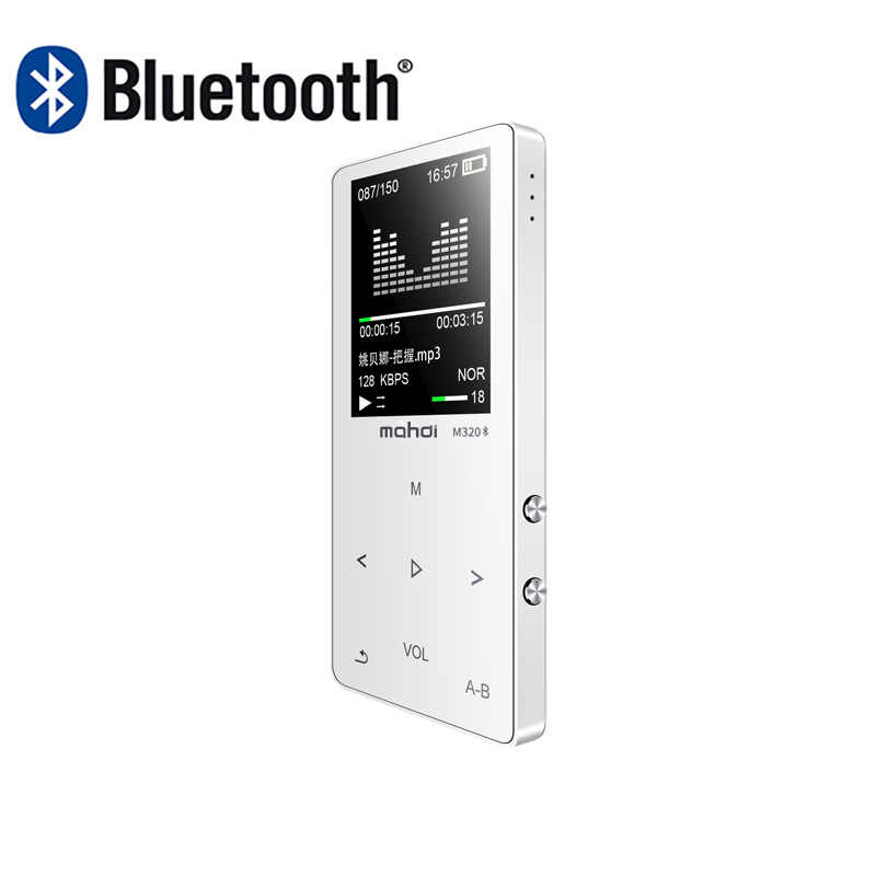 Nowy Metal Bluetooth Sport MP4 przenośny odtwarzacz Audio z wbudowany głośnik radio FM APE Flac muzyka odtwarzacz wideo