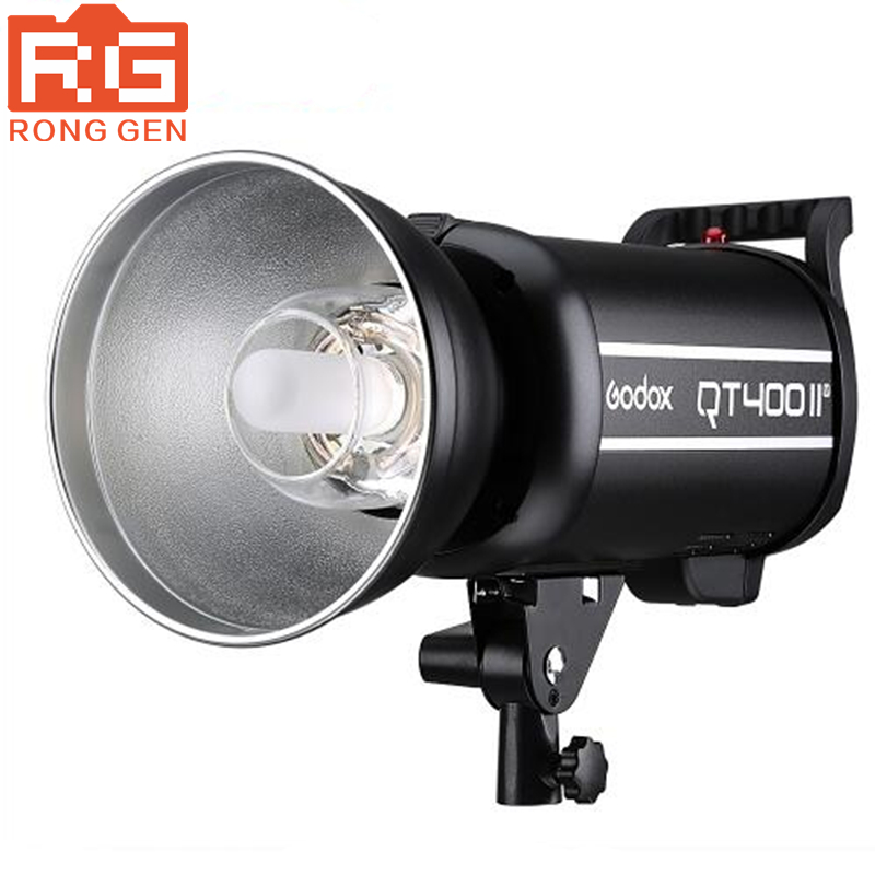 Godox QT400II 400WS GN65 1/8000s High Speed Sync Flash Strobe Light with Built in 2.4G Wirless System, Recycle time in 0.05-0.7s new godox qt1200ii qt1200iim 1200ws gn102 1 8000s high speed sync flash strobe light lamp bulb with built in 2 4g wirless system