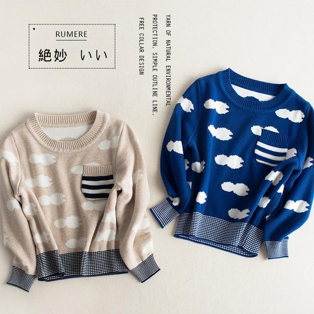 6b721165df7b 2016 New Spring Autumn Kids Cloud Pattern Sweaters For Boys Girls ...