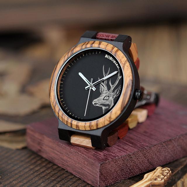 Luxury Lovers' Wooden Watches Women Handmade Quartz Wristwatches