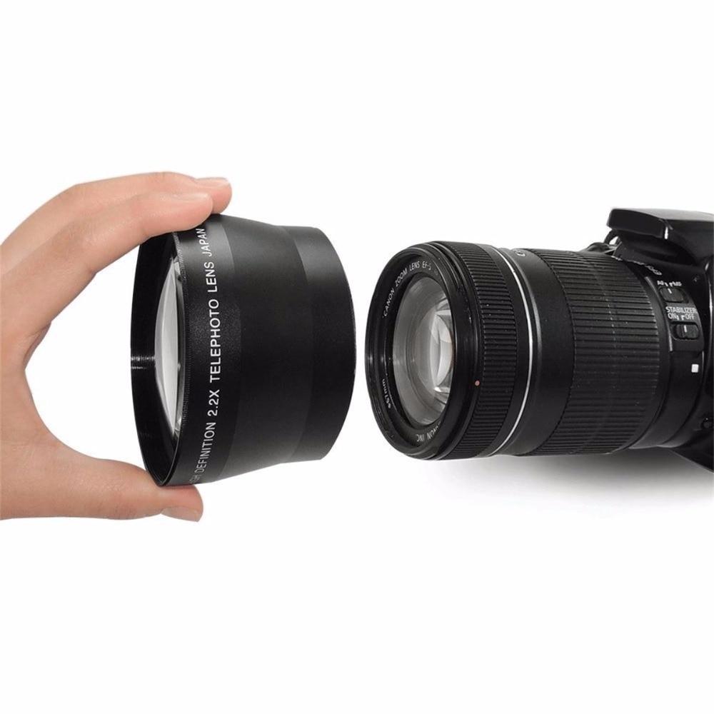 CUJMH 67mm 2.2X Ad Alta Definizione Digitale Teleobiettivo Lens per Canon Nikon OLYMPUS Pentax Sony Tutti I 67mm Camera Discussione