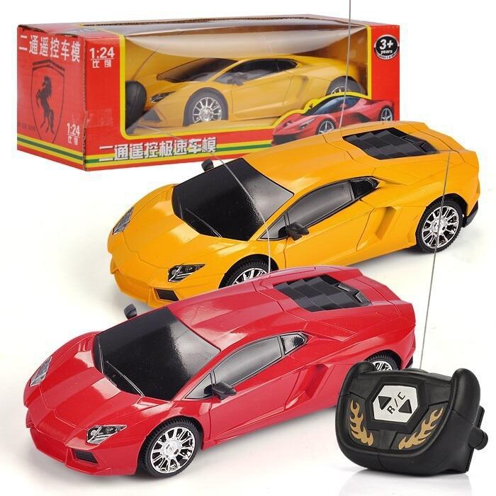 Electric Rc Cars: Electric 2CH Remote Control Car 1:24 Lamborghin RC Toy