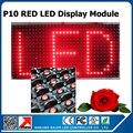 32x16 cm P10 cor semi-ao ar livre vermelho levou módulo de exibição de rolagem mensagem led vermelho do painel de trabalho com BX texto cartão de controle