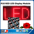 32x16cm P10 semi-outdoor red color led display module scrolling message red led panel working with BX text control card