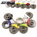 Ace speed-Ace speed-New Metal brake discs Keychain JDM style For Honda keychain key ring 6 colors for AP style brake disc