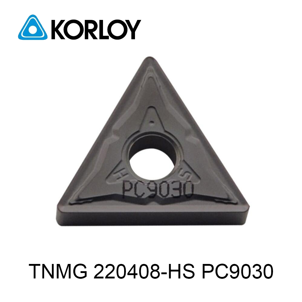 Original Korloy <font><b>TNMG</b></font> TNMG220408 HS PC9030 Carbide Inserts <font><b>TNMG</b></font> <font><b>220408</b></font> Turning Tools for Stainless Steel Lathe Cutter Tool Holder image