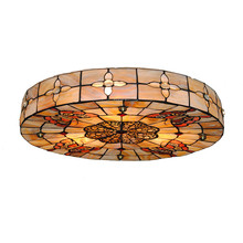 Tiffany Butterfly Ceiling Light E26/E27 Baroque Retro Cherry Blossoms Lampshade Bedroom Aisle Porch Hanging Lamp Home Decor C262