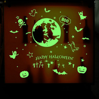 New Halloween Luminous Wall Stickers Glow Window Sticker Poster for Home Halloween Party Decoration