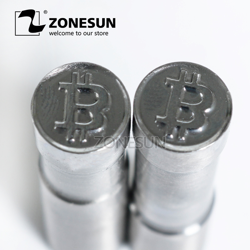 ZONESUN Bitcoin Logo Customized Sugar Milk Candy Stamp Punch Mold Tablet Press Tool Die TDP 0/1.5/3 Stamping Press Mould Machine 6mm blank round stamp tdp 1 5 die mould die punchers for punch tablet press machine