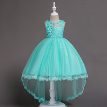 new dress girl wedding girls festive princess dressess Wedding presiding Birthday party Stage performance Trailing