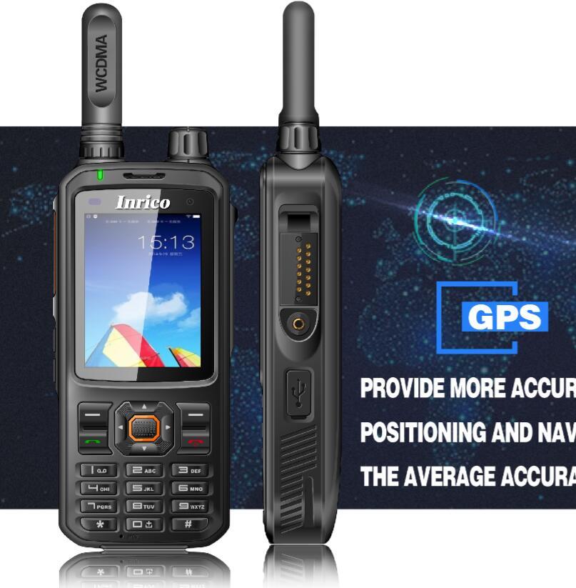 Inrico portable public network wifi walkie talkie radio 4000mAh batterij touchscreen SIM-kaart WCDMA GSM 3G Trunking transceiver