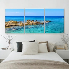 Laeacco Modern Sea Posters and Prints Pictures Abstract Nordic Home Decoration Art Charts Canvas Paintings on the Wall