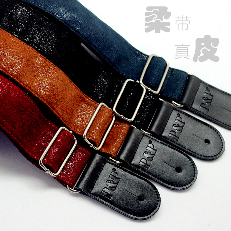 Guitar Straps Thicken Leather P&P Guitar Straps High-grade Electric Guitar Straps Musical Instrument Guitar Accessories Straps