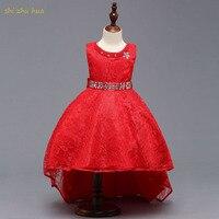 Child Clothing 2018 New Swallowtail Dresses Girls Spring Summer SleevelessTop coat Lace Irregular Hem Dresses Girl Evening Dress