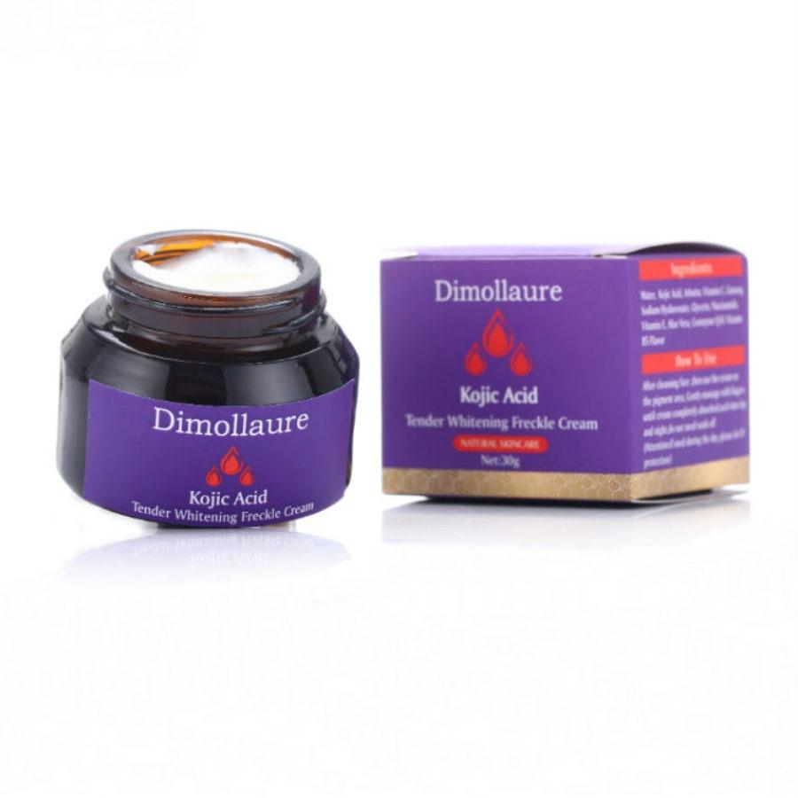 Dimollaure Kojic Acid Whitening Cream 30g Retinol Wrinkle Removal Freckle Melasma Acne Scar Pigment Age Spot Melanin Sun Spot  - buy with discount