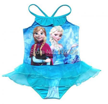 d34f851c9b Blue Elsa swimwear frozen swimming costume Baby Girls frozen bathers Kids  swimwear swim suit 5pcs/lot