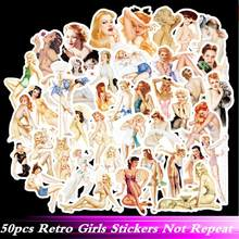 50pcs/Pack Cool Belle VSCO Girls Retro Sexy Stickers Waterproof Skate Phone Laptop Motorcycle Suitcase Guitar Sticker Pegatinas(China)
