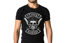 T Shirt Design Online O-Neck Short Sleeve Volbeat Denmark Logo Graphic T Shirts For Men