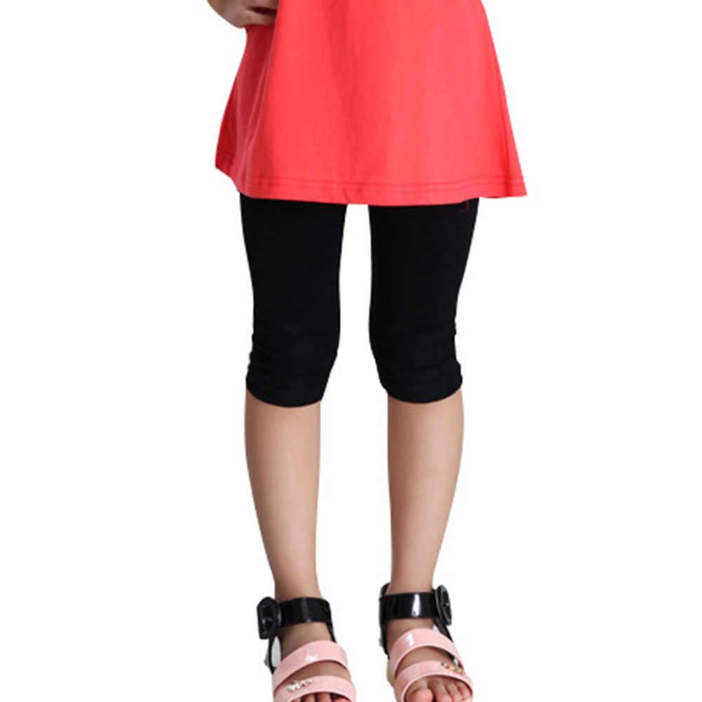 Lato cukierki kolor dzieci dziecko dziewczyny bawełniane legginsy dla dzieci spodnie dla dzieci lato przycięte Capris U
