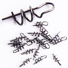 20pcs/lot  Soft Bait Spring Lock pin Length 1cm diameter0.3cm Fishhook and soft bait connector Fishing Accessories Tackle