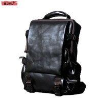 Первый слой кожи Для мужчин сумка Альпинизм дорожная сумка ручной работы Для мужчин Ретро Натуральная кожа 14 дюймов рюкзак для ноутбука