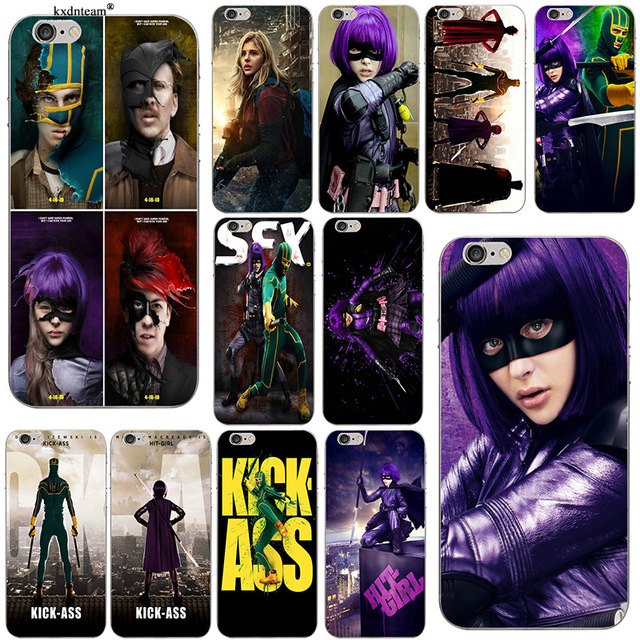 Anime Kick Ass Hit Girl Red Misk Slim Soft Silicone TPU Phone Cases for  iPhone 8 7 6 6S Plus X 5 5S SE 5C 4 Coque Shell Cover