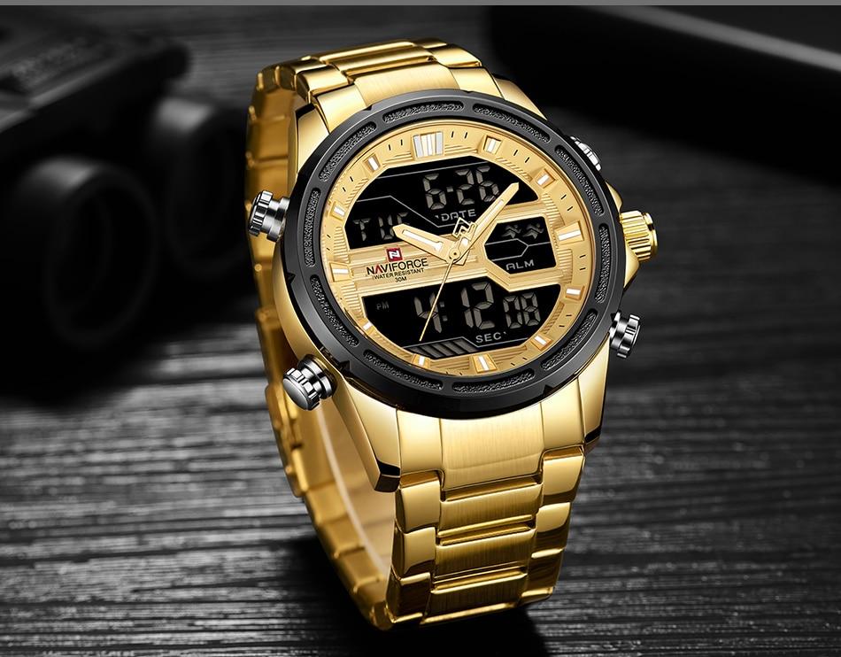 Top Luxury Brand NAVIFORCE Men Watches Military Waterproof LED Digital Sport Men's Clock Male Wrist Watch relogio masculino 10