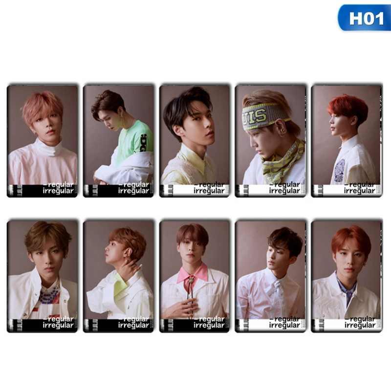 10 шт./компл. k-pop NCT 127 мини-альбом карты с кристаллами наклейки автограф фотокарты бумажные карты