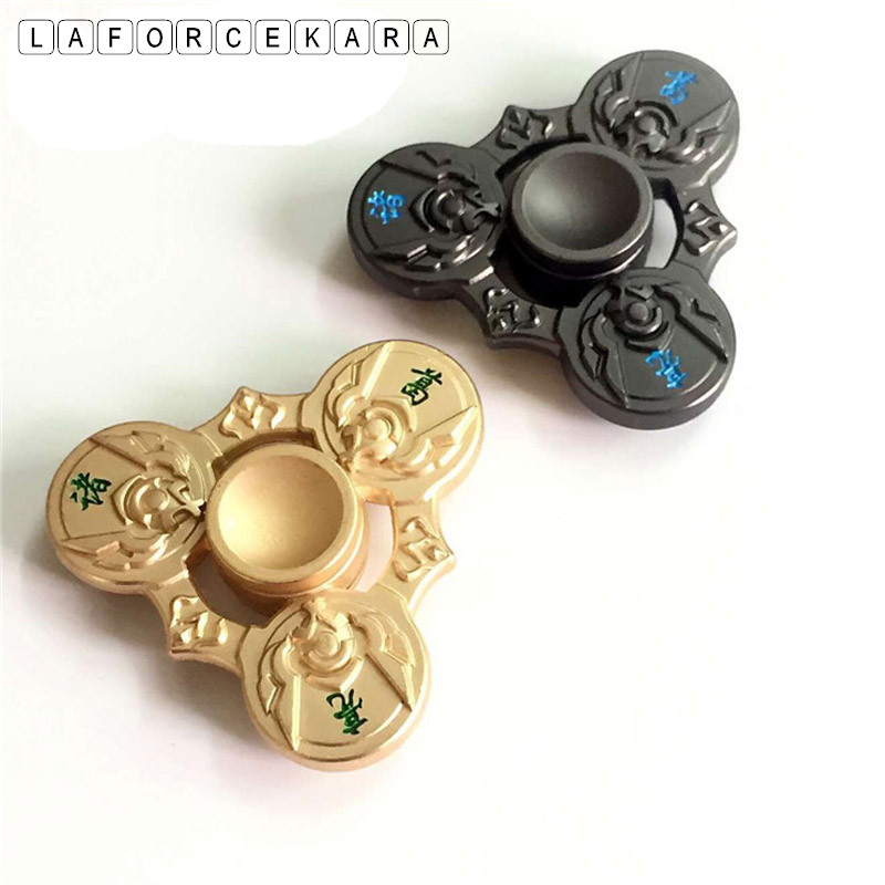 New Golden Zhuge Liang Zinc Alloy Metal Fidget Spinner Gyro Rotary EDC Hand Spinner for Autism