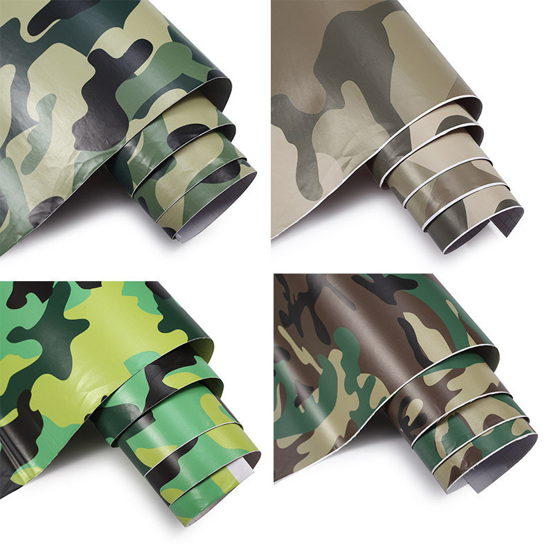 Sticker Car Camouflage Color Change Film Wrap Sheet Adhesive Vinyls PVC Motorcycle Carbon Fiber Sticker Army Woodland