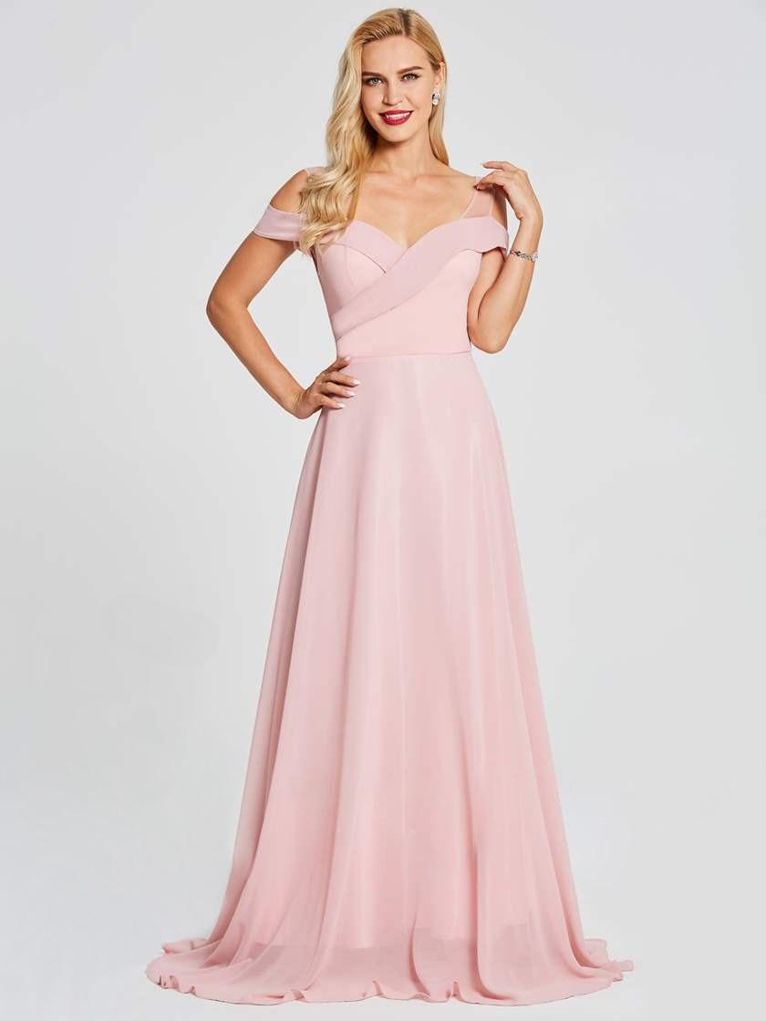 Babyonline Custom Made Sweetheart Chiffon Bridesmaid Dresses 2019 Zipper Up Back Wedding Guest Dress Party Dress