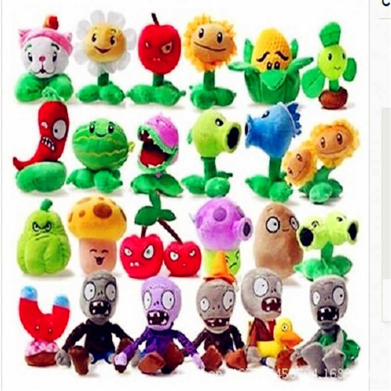 1 Pcs 27 Gaya Lucu Plants Vs Zombies Mainan Mewah 13-20 Cm Plants Vs Zombies Boneka Lembut Mewah mainan Boneka Bayi Mainan untuk Anak-anak Hadiah