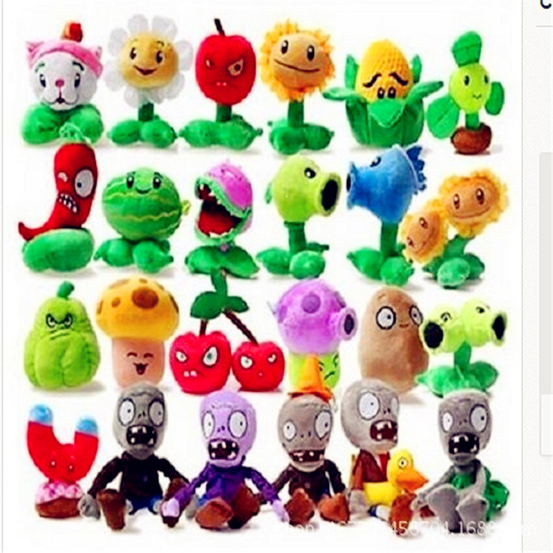 1PCS 27 Style Funny Plants vs Zombies Plush Toys 13-20cm Plants vs Zombies Soft Stuffed Plush Toys Doll Baby Toy for Kids Gifts 13 20cm pvz plants vs zombies 2 plants saucer plush toys games pvz plant ufo plush soft stuffed toys doll for kids children gift