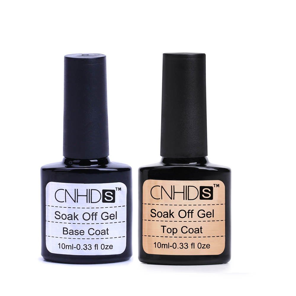 Top Quality Nail Gel Top Coat Top it off + Base Coat Foundation for UV Gel Polish Best on Aliexpress 10ml