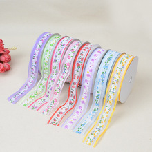 Colorful Country Style Small Flower Series Ribbon 2.5 cm Wide Gauze And High Quality Nylon Material Embossed Dress